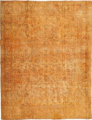 """RugVista Colored Vintage Rug 9'11"""" x12'9 (302x388 cm) Modern Carpet"""