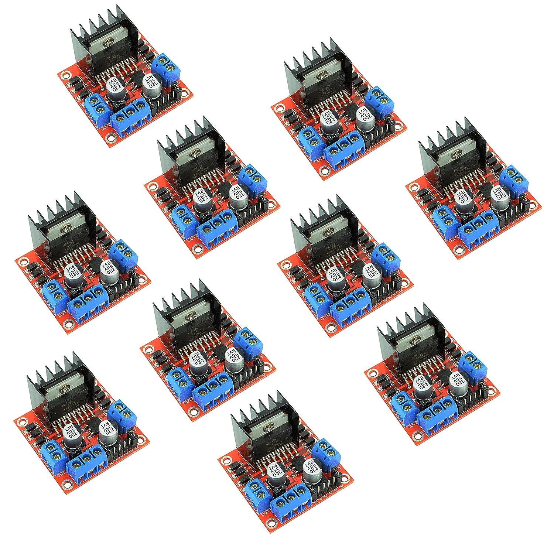 Roboter 10pcs L298 N Motor Drive Controller Modul Board Dual h-bridge Driver f/ür Arduino Smart Cars von Optimus Electric