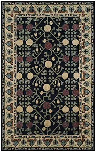 Safavieh Heritage Collection Premium Wool Area Rug, 6 x 9 , Navy Ivory