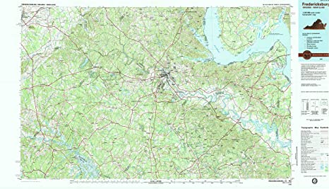 Fredericksburg Virginia Map.Amazon Com Yellowmaps Fredericksburg Va Topo Map 1 100000 Scale