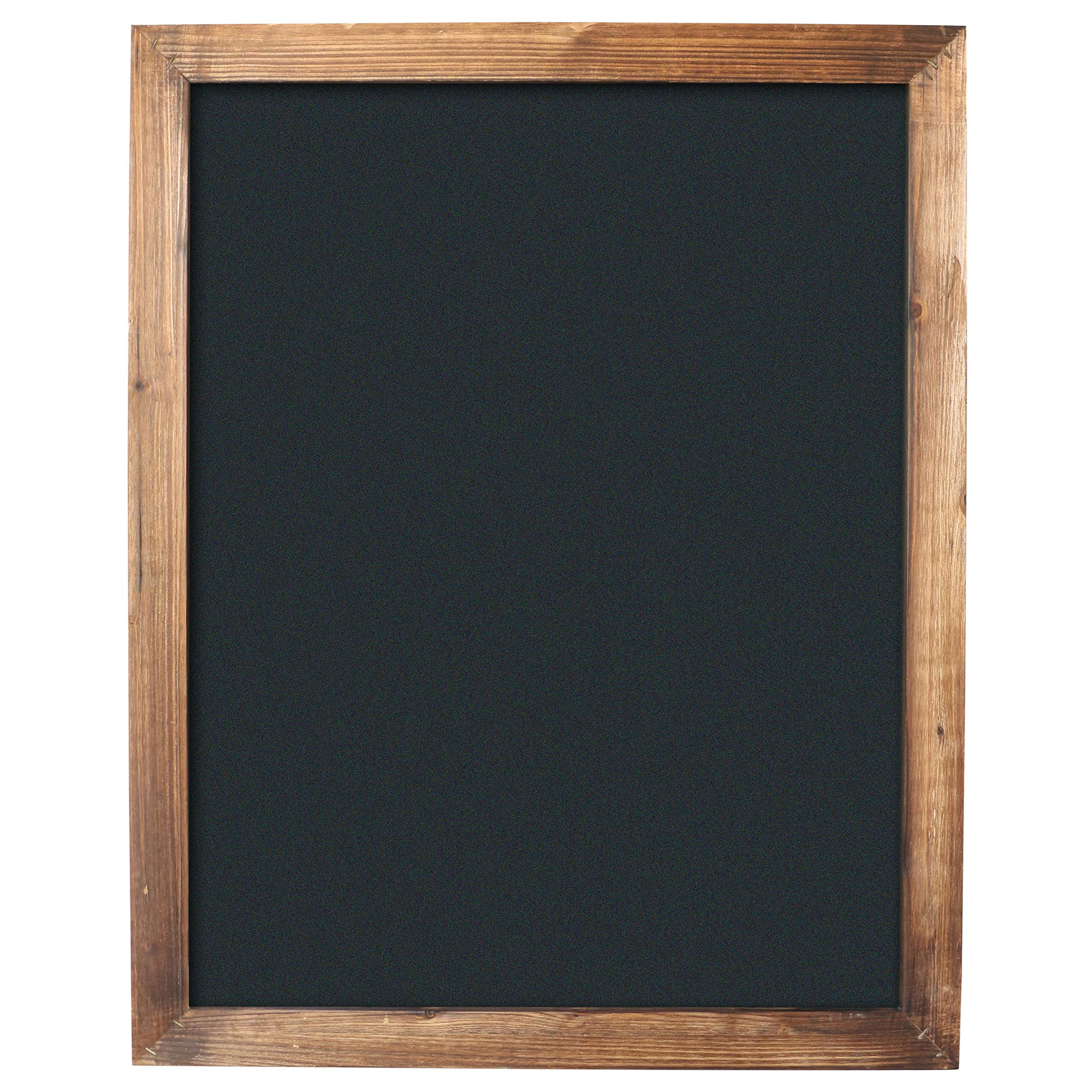 """Barnyard Designs Torched Wood Framed Chalkboard Display Sign Rustic Vintage Decor for Home Kitchen Restaurant Bar Cafe Wedding 30"""" x 24"""""""