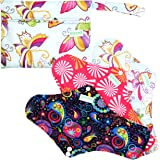 [Extra 40% Off Only This Special Week] Extra Large Reusable Menstrual Pads (Pack of 3) with 1 Mini Bag,Natural White Bamboo Lining