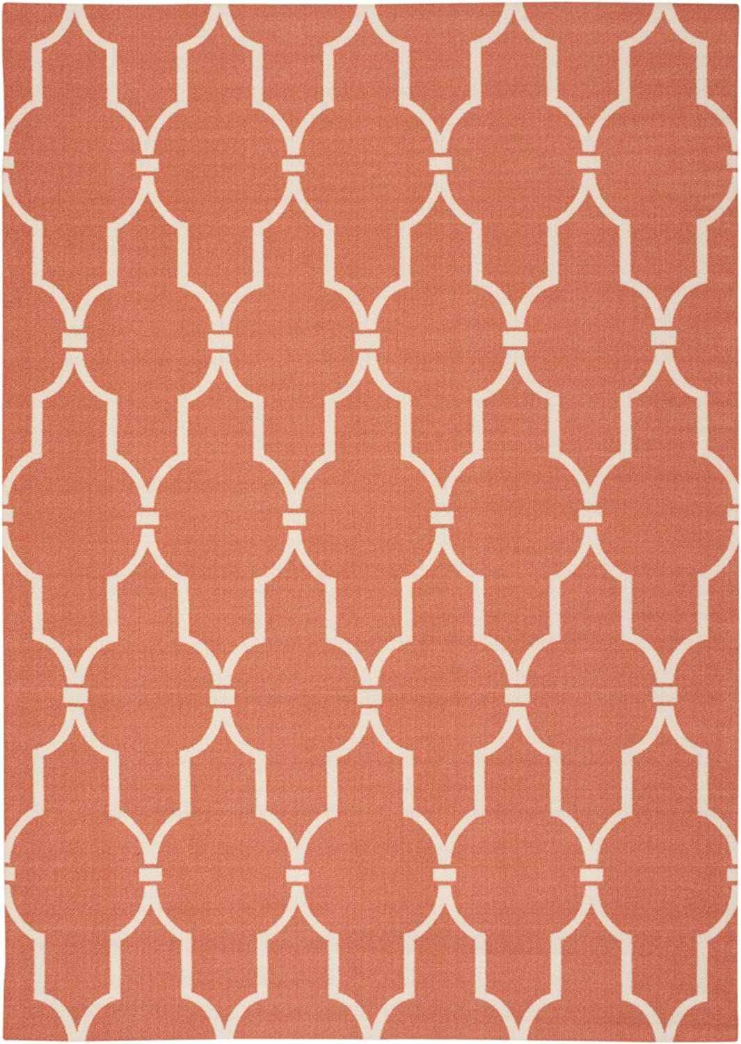 Nourison Home & Garden Orange Rectangle Area Rug, 5-Feet 3-Inches by 7-Feet 5-Inches (5'3
