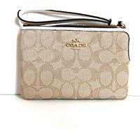 Genuine Coach Wristlet Clutch Purse.Light Khaki/Chalk