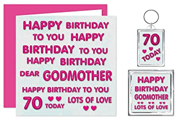 Godmother 70th Happy Birthday Gift Set