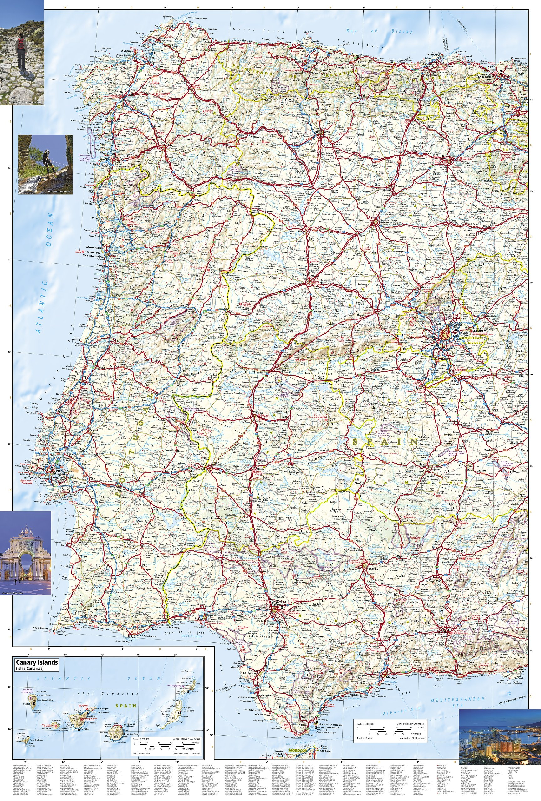 Spain And Portugal National Geographic Adventure Map National - Michelin map portugal 733