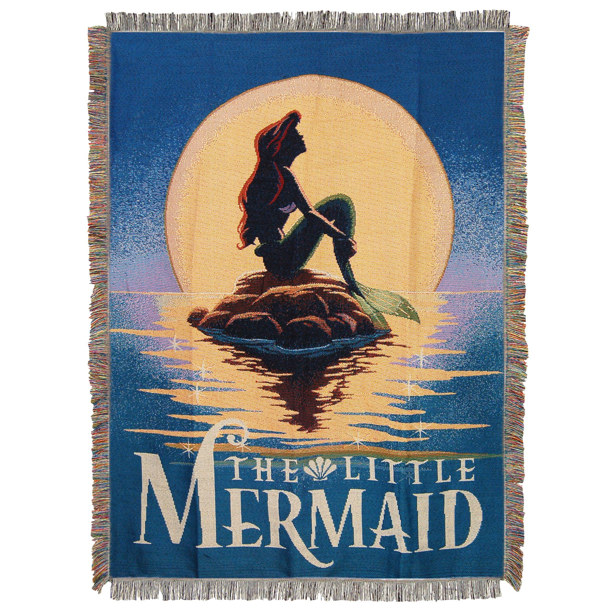 Disney's The Little Mermaid, ''Poster'' Woven Tapestry Throw Blanket, 48'' x 60'', Multi Color