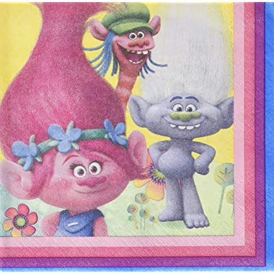 Unique 50682 Trolls Lunch Napkins 16ct.: Toys & Games