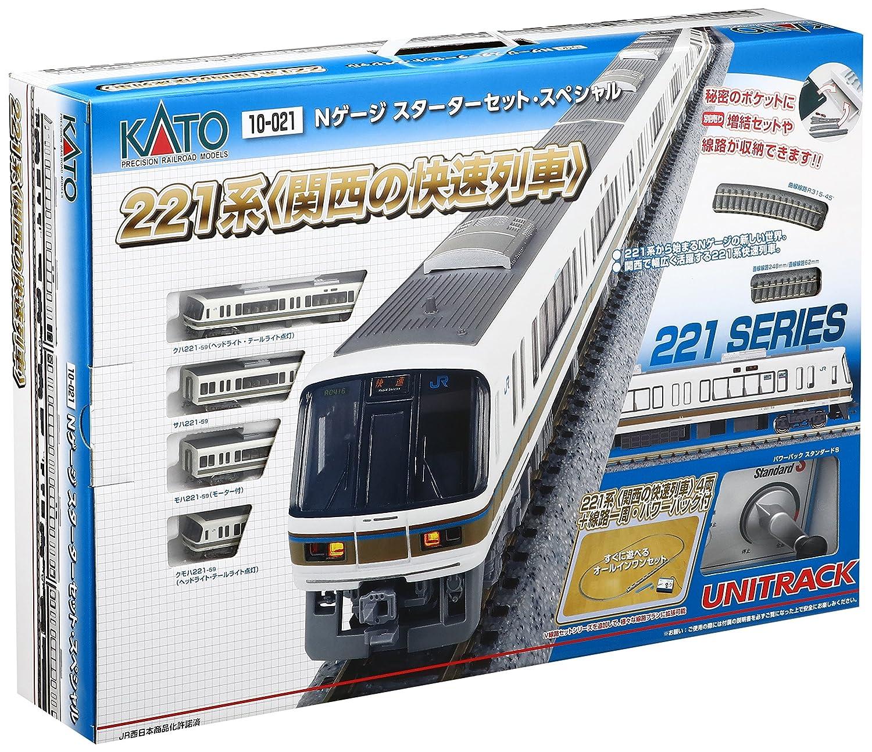 KATO Nゲージ スターターセットスペシャル 221系 関西の快速電車 10-021 鉄道模型入門セット   B01FJ4UNGW