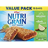 Kellogg's Nutri-Grain Cereal Bars (Apple Cinnamon Big Pack, 16-Count Boxes, Pack of 3)