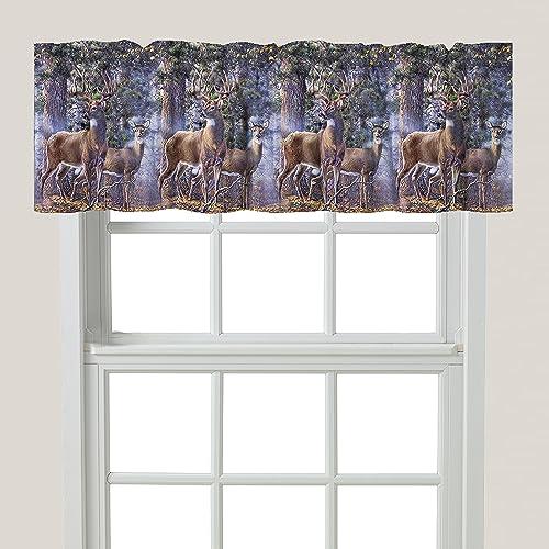 Laural Home Deer Time Window Valance, Multi
