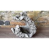 Eichhörnchen Wasserfall Vogeltränke/Futterstation Ornament Detaillierte Kunststein Garten