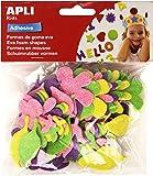 Apli 218135 - Pack de 48 flores de goma Eva con purpurina