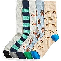 Amazon Brand – Goodthreads, calcetines estampados para hombre, paquete de 5