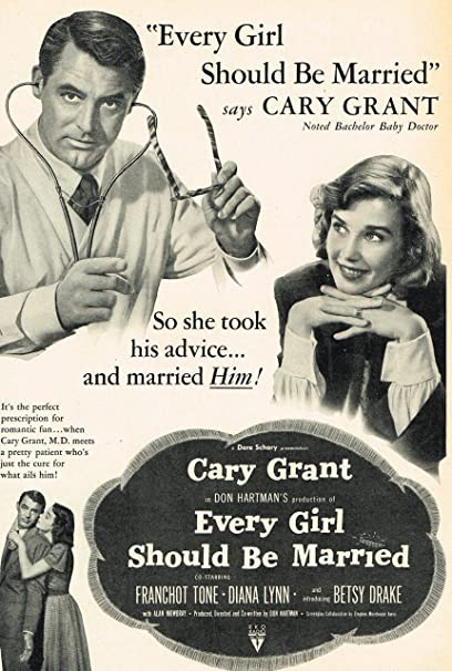 Every Girl Should Be Married 1948 Original Movie Ad with Cary Grant and  Diana Lynn