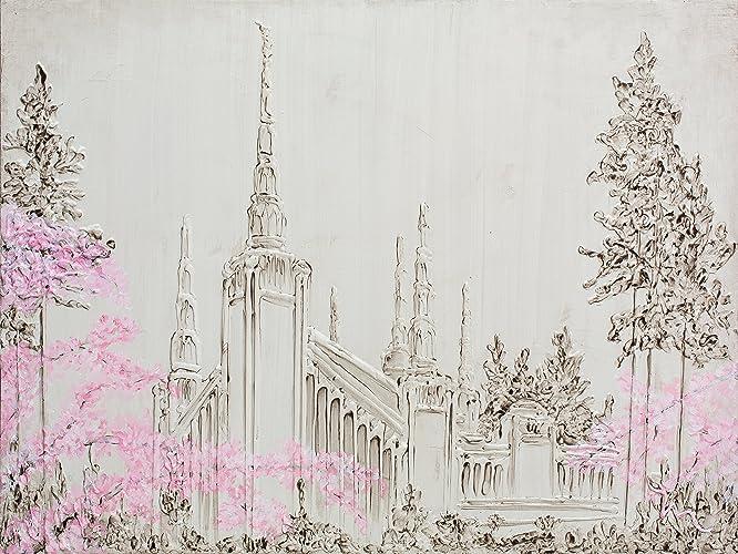Amazon com: Portland Oregon Temple LDS Canvas Print: Handmade