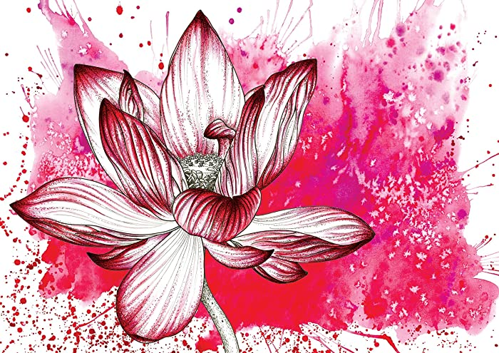 Red lotus flower spiritual card thank you card amazon handmade red lotus flower spiritual card thank you card mightylinksfo