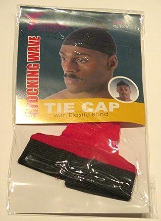 Tommy Stocking Wave TIE CAP with Elastic Band White Du Rag Doo Rag Skull Cap #1018