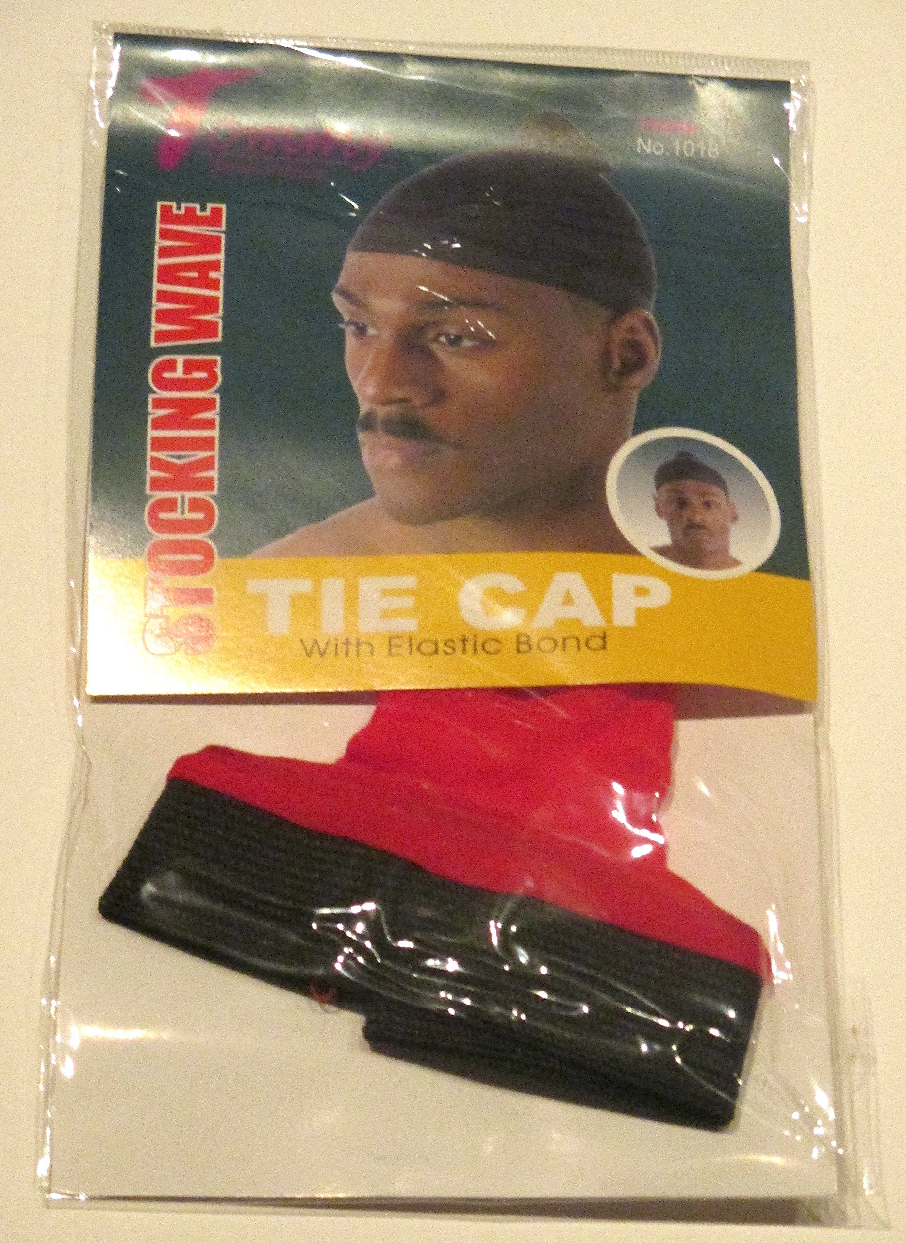 Tommy Stocking Wave TIE CAP with Elastic Band Red Du Rag Doo Rag Skull Cap 1018