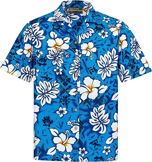 Hawaiian Shirt | for Men | 100% Cotton | Size S - 8XL | Short Sleeve | Classic Flowers | Men's Aloha Shirts