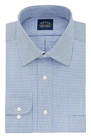 d80803f8ab1089 Eagle Men s Tall Size Non Iron Stretch Collar Check Spread Collar Dress  Shirt