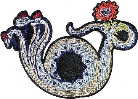 Parche con diseño de serpiente Cobra de 31,75 cm con logotipo de tres cabezas para