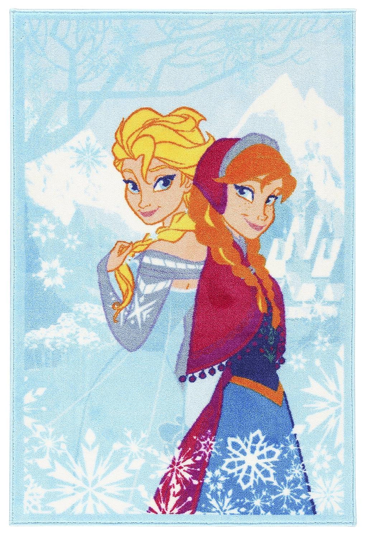 Mehrfarbig 80 x 140 x 1,12 cm Synthetikfaser Disney Action LINE Frozen Teppich