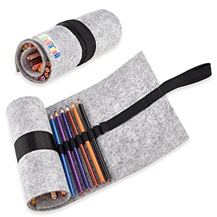 1 PRO Colored Pencils Set With Wool Felt Wrap