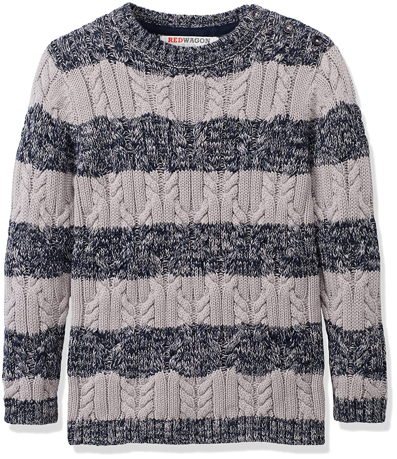 RED WAGON Boys Cable Knit Striped Jumper