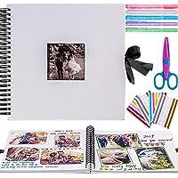 Inicia - Kit de álbum de fotos, 30 x 30 cm, álbum de recortes para pegar con 5 bolígrafos metálicos, tijeras y 216…