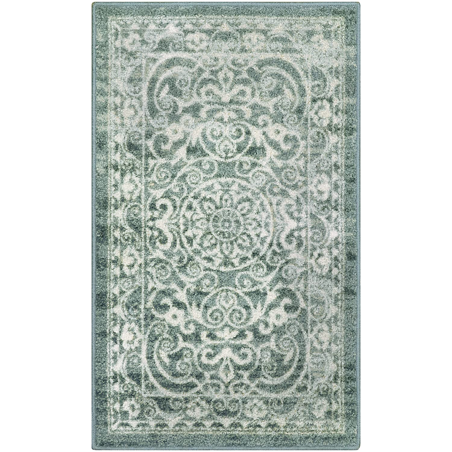 Kitchen Rugs, Maples Rugs [Made in USA][Pelham] 1'8 x 2'10 Non Slip Padded Small Area Rugs for Living Room, Bedroom, and Entryway - Khaki AG4055301