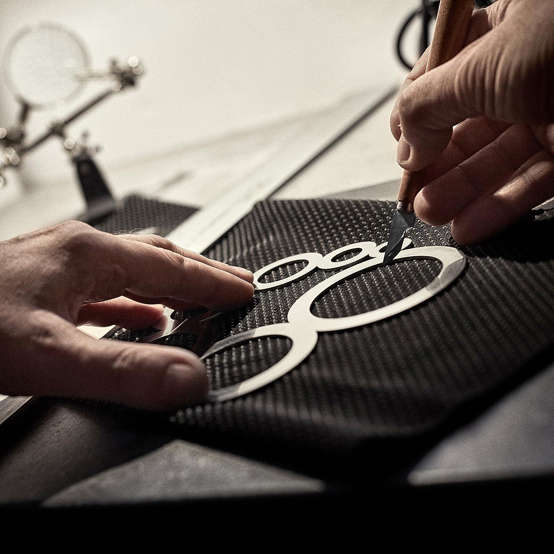 Fabriqué en acier inoxydable au Royaume-Uni Leather Pro Coin en cuir et guide de coupe de cercle Guide Outil en cuir pour travaux en cuir