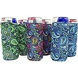 Slim Can Sleeves - Set of 6 Can Neoprene Beverage Coolers