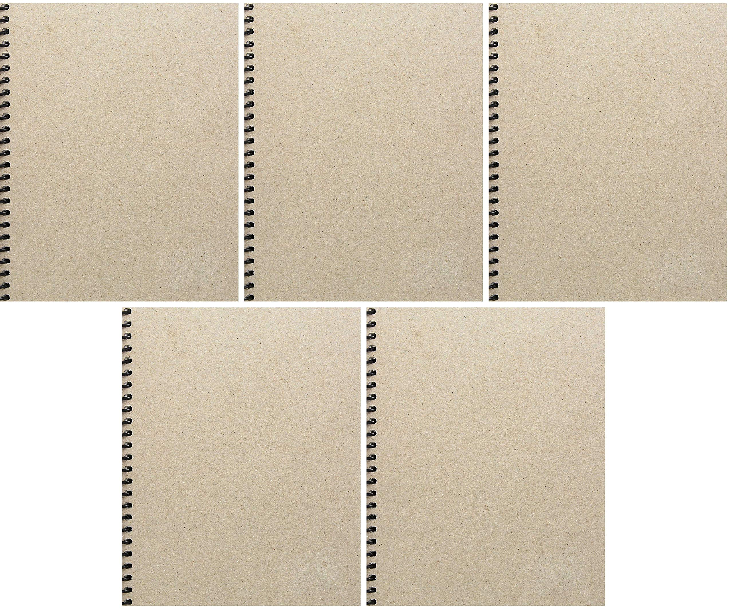Sax Basic Spiral Binding Sketchbook, 80 lbs, 8 x 10 Inches, 100 Sheets, White (Вundlе оf Fіvе)