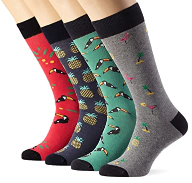 Jimmy Lion, Tropical Pack - Pack de 4 calcetines unisex, color sock box, talla 41-46: Amazon.es: Ropa y accesorios