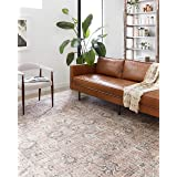 "Loloi ll Skye Collection Printed Distressed Vintage Area Rug, 2'-6"" x 7'-6"", Multi"