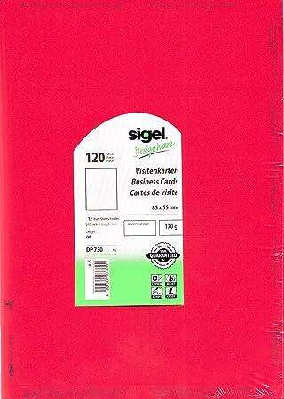 Sigel Print Sie Ihre Eigenen Visitenkarten Dp730 Rot