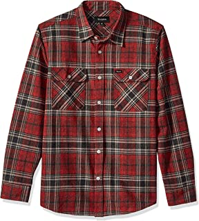 c4b19d27 Brixton Men's Bowery Long Sleeve Flannel Shirt at Amazon Men's ...
