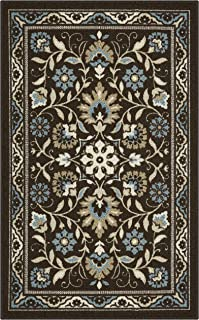 product image for Maples Rugs 2'6 x 3'10 Hallway Entry Kitchen Rugs Non Skid Accent Area Mat [Made in USA], Coffee Brown