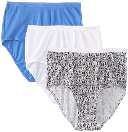 048e814c76e8 Fruit of the Loom Women's 3 Pack Brief Panties at Amazon Women's Clothing  store: Briefs Underwear