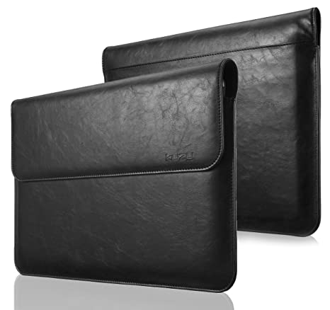 finest selection 9eb5a d5461 MacBook Pro 13 inch Sleeve Leather, Kuzy 13 inch Laptop Sleeve Case for  MacBook Air 13 inch Sleeve (Newest Version) PU Leather Laptop Sleeve - Black