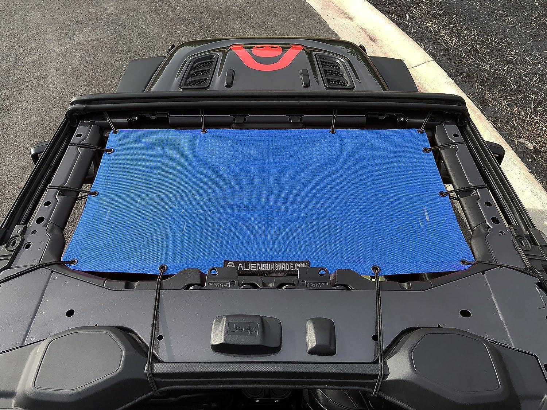 Jeep Wrangler 2 ALIEN SUNSHADE Jeep Wrangler JL Front Sunshade Mesh Top for 2018 door or 4-door JL and JLU Unlimited Forest Green