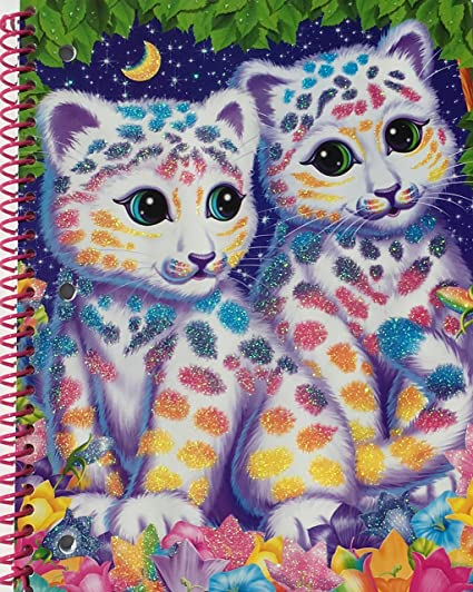 Lisa Frank 1 Subject Wide Ruled Notebook Assorted Styles