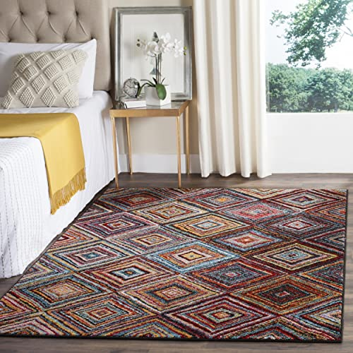 Safavieh Aruba Collection ARB501M Abstract Geometric Diamond Lattice Multicolored Area Rug 4 x 6