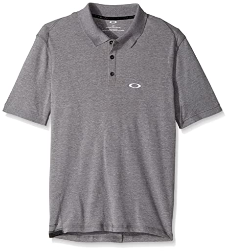 Oakley Mens Icon Short Sleeve Polo Shirt, Athletic Heather Grey ...