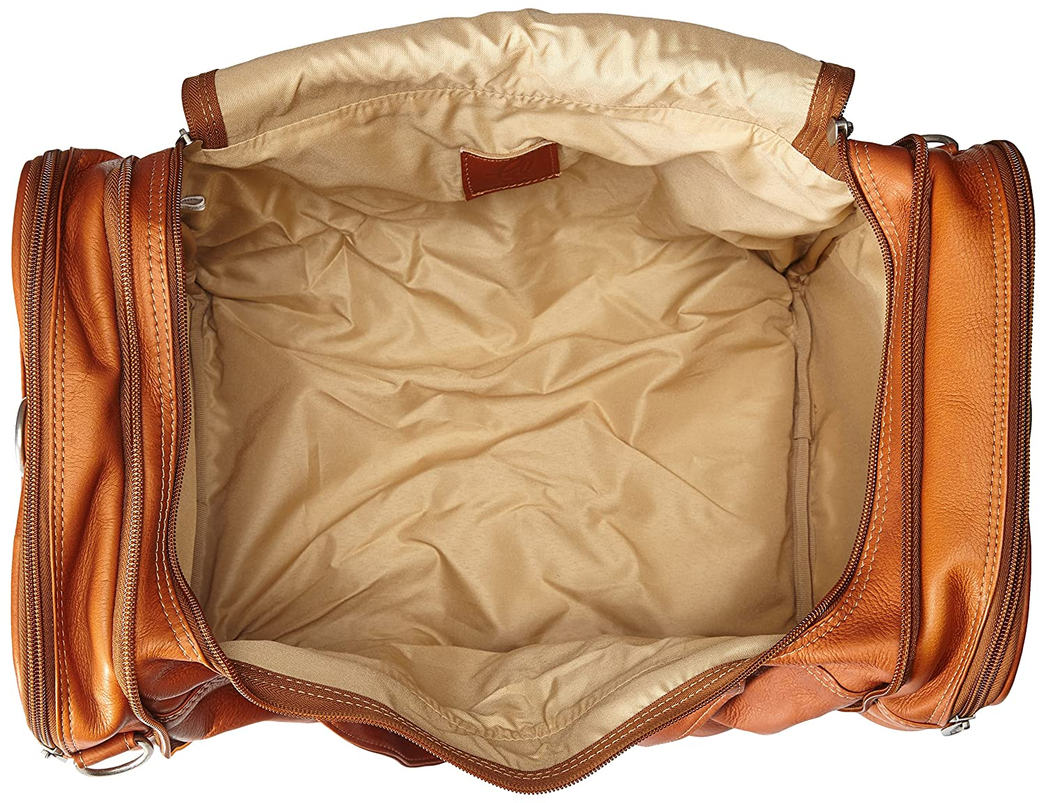 Chocolate Piel Leather Collapsible Duffel to Carry-all