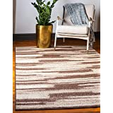 Unique Loom Autumn Collection Gradient Casual Warm Toned Brown Area Rug (2' 0 x 3' 0)