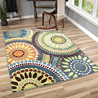 "product image for Orian Rugs Veranda Indoor/Outdoor Merrifield Collage Area Rug, 6'5"" x 9'8"", Green"