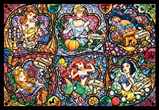 Tenyo Disney Brilliant Princess Stained Glass Gyutto Size Series Jigsaw Puzzle (500 Piece) Japan VideoGames DSG-500-419