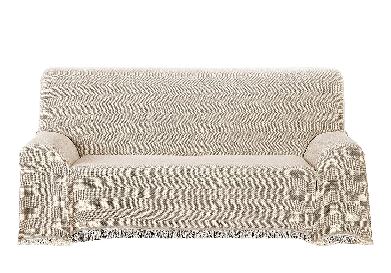 Martina Home Espiga - Foulard Multiusos, Crudo Beige, 230 x 260 cm, tela